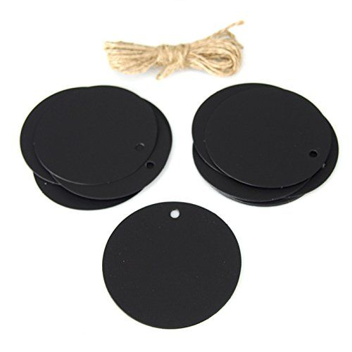 Black Chalkboard Tags Circle, 3-inch, 20-pack ** You can get more details by clicking on the image.