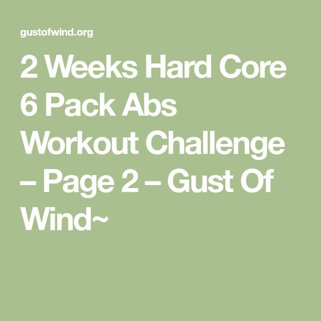 2 Weeks Hard Core 6 Pack Abs Workout Challenge – Page 2 – Gust Of Wind~