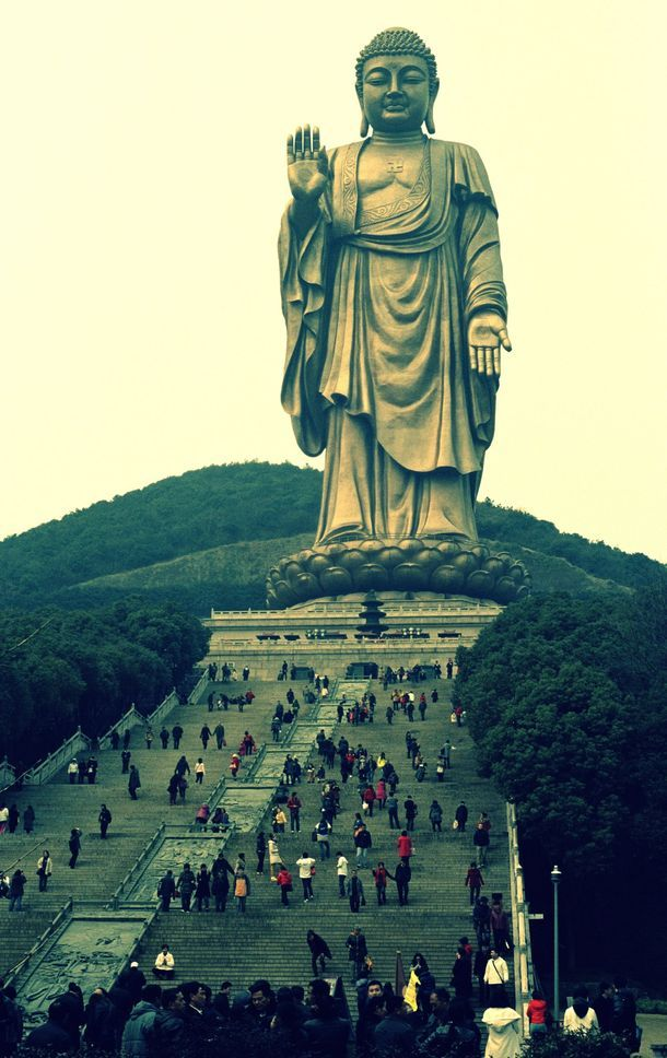 Giant Buddha in Wuxi, China I felt very small, standing at his feet. It was a very Wabi Sabi moment.