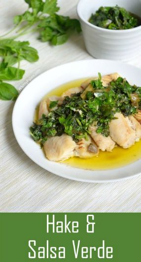 Hake & Italian Salsa Verde [Raw Herb Green Sauce] @whittypaleo
