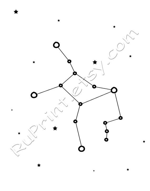 picture relating to Constellation Printable referred to as Virgo constellation artwork, Zodiac Virgo print, Printable