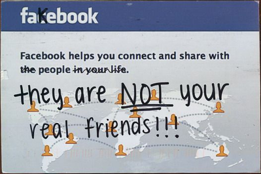 """Many many many people on my friends list are my """"real"""" friends. But just because others are on my friends list doesn't mean they are a friend.... it's not REAL FRIENDSHIP"""