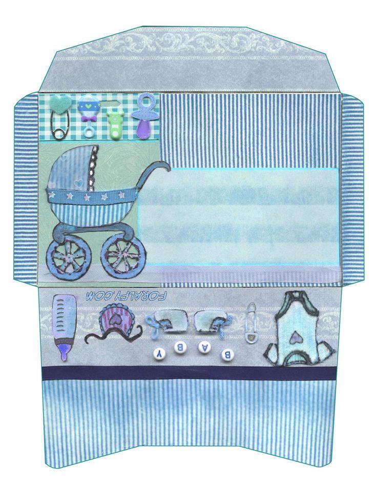Открытка конверт для новорожденных шаблоны