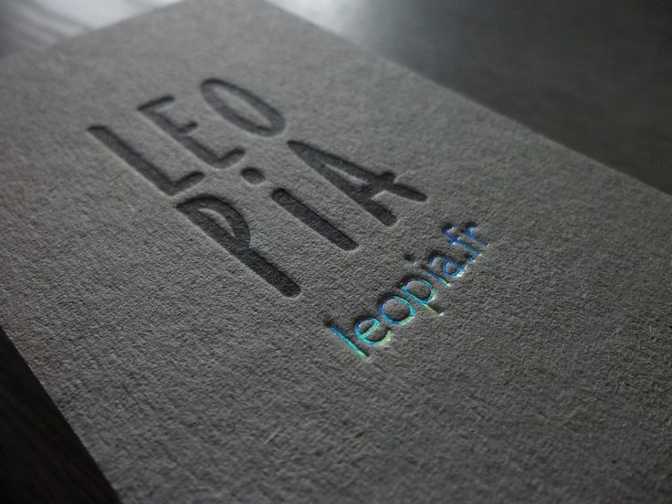 Last work. Business Cards on Kraft with Letterpress and Holographic Foil. Check !