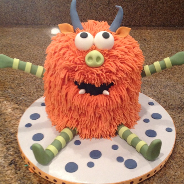 Monster Smash cake! Green Monster Smash Cake birthday monster cake cupcake pop cke girl and boys party