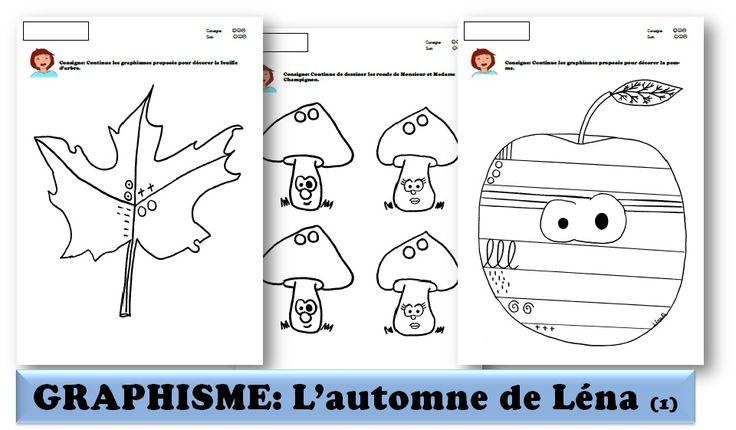 MATERNELLE-GRAPHISME-AUTOMNE- graphismes de Léna 1 - laclassedelena