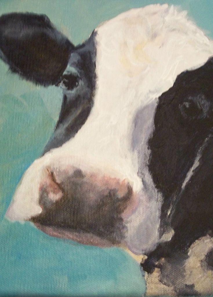 Maude 5x7 Holstein Cow Digital Reproduction by JonnieJBaldwin