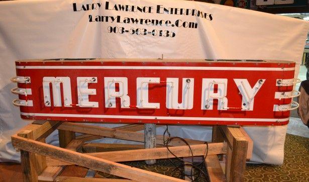 "1940s-1950s Vintage ""MERCURY"" Dealership Neon Sign *RARE* | Larry ..."