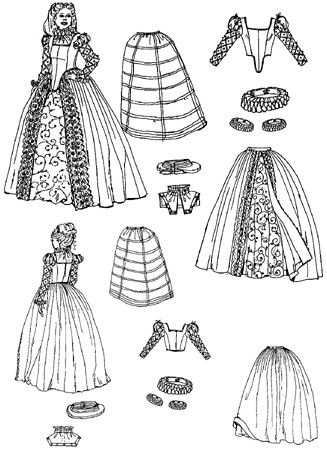 Layers and parts to Elizabethan dress. | English in 2019 ...
