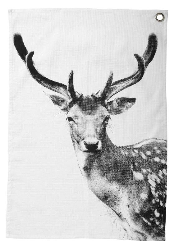 Paños de cocina de diseño: Cotton Teas, Teas Towels, Tea Towels, Towels Deer, Gifts Ideas, Nord Deer, Deer Teas, Scandinavian Christmas, Design