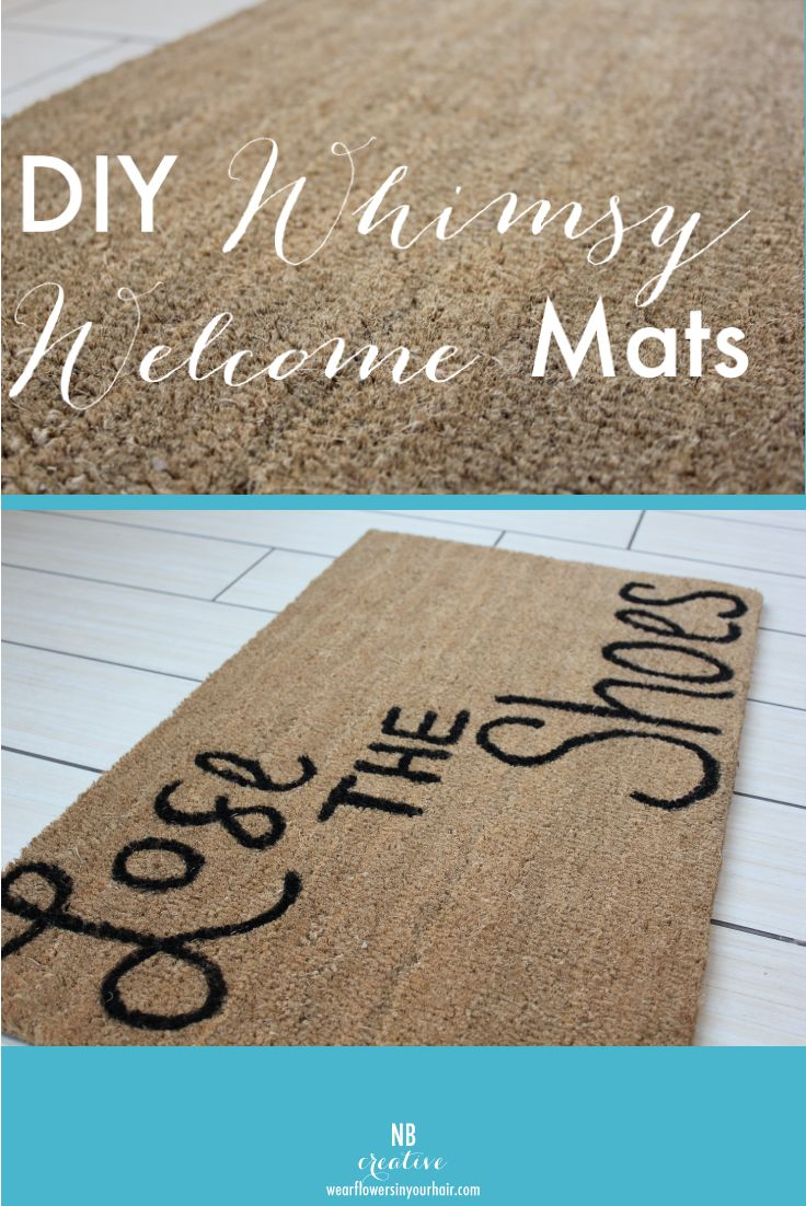 How To Make Your Own Cool Welcome Mat On The Cheap