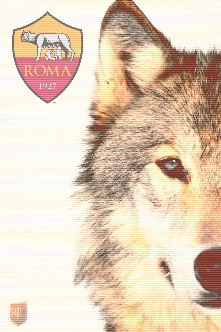 Wallpaper AS Roma Wolf