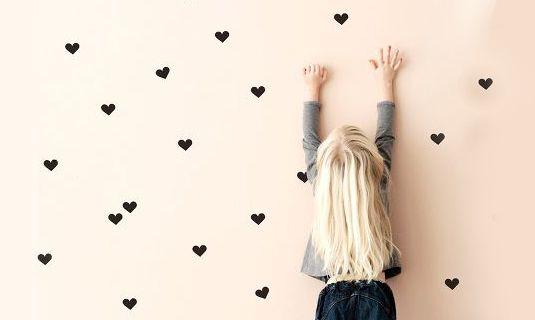 Mini hart muurstickertjes voor in de kinderkamer!