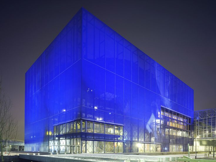 Nouvel's DR Koncerthuset (concert hall) was completed in 2009 in the Ørestad area of Copenhagen. The building's four theaters were designed with the help of Japanese acoustics expert Yasuhisa Toyota.