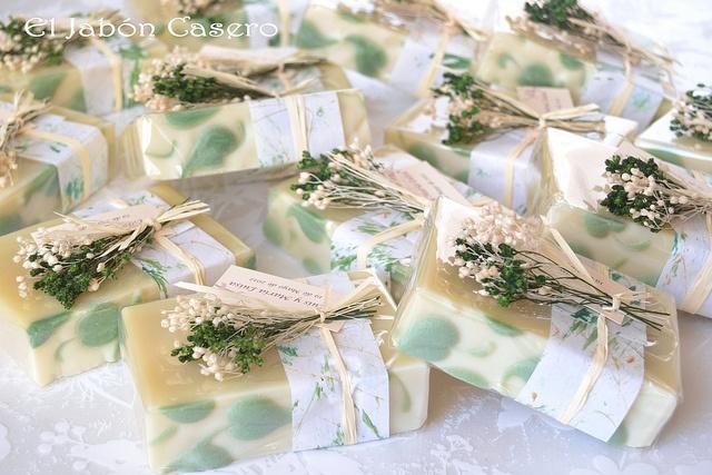 Jabones de aceite de oliva detalles de boda, El Jabón Casero by El Jabón Casero, via Flickr