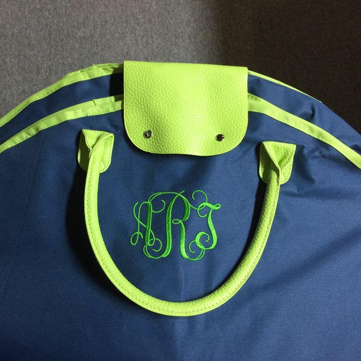 Personalized Ladies Garment Bag - Monogrammed Hanging Bag - Travel Bag - Garment Bag by MJMonograms on Etsy
