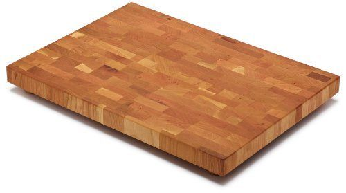 """Snow River Cherry End Grain Cutting Board with Hardwood Feet, 13-Inch by 18-Inch by 1-1/4-Inch by Snow River. $53.16. Dimensions 13"""" x 18"""" x 1.25"""". Made in USA. Handcrafted of premium north american cherry wood. Occasionaly treat with wood oil. Full end grain won't dull fine cutlery. Snow River's Cherry End Grain Cutting Board  is handcrafted of premium North American cherry wood. This gourmet cutting board is made for the serious cook that demands the best and who favor en..."""