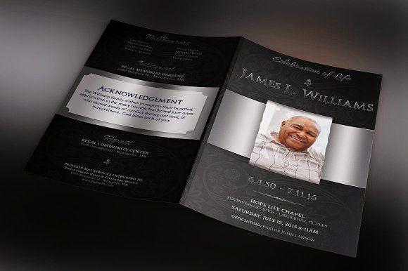 Black Dignity Funeral Program by Godserv Designs on @creativemarket
