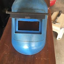 Vintage 1979 Blue Jackson Welding Helmet FLIP UP  ANSI Z87.1