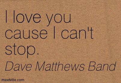 Matthews Band I Love You Cause I Can T Stop Love Meetville Quotes