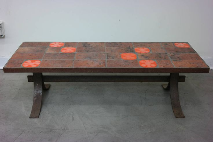 Tile Top Table in the Style of Roger Capron 8