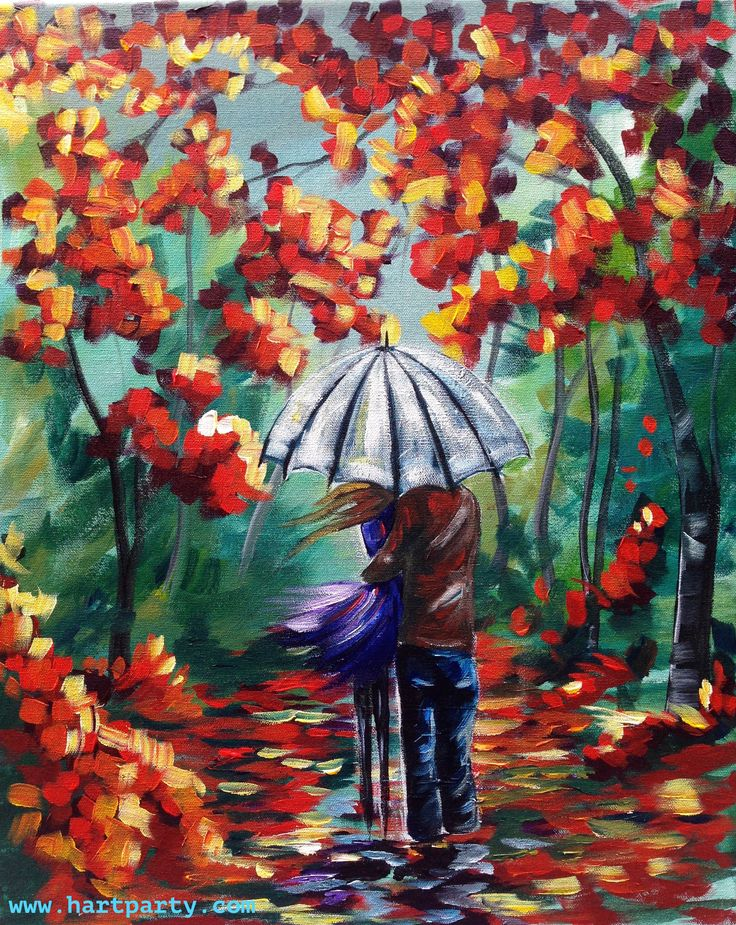 Lovers Walk By Cinnamon Cooney The Art Sherpa as a Fully guided art lesson for Hart Party on youtube. Free online home painting party https://www.youtube.com/user/HoneyBmama