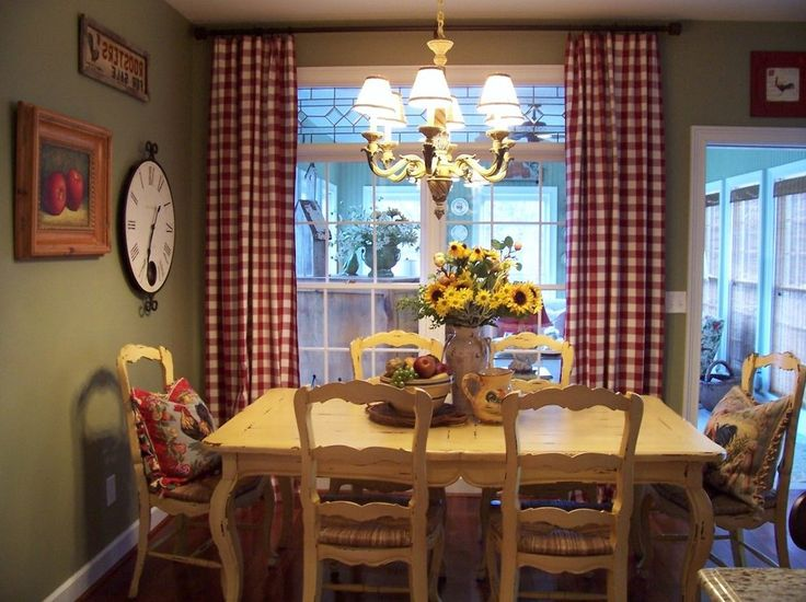 old country dining room farmhouse with breakfast traditional artificial flowers