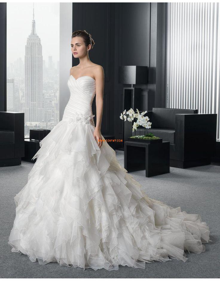 A-vonalú Klasszikus és időtálló Természetes Menyasszonyi ruhák 2015