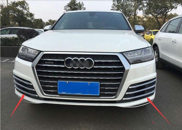 Abs Chrome Front Fog Light Lamp Strip Cover Trim 6pcs For Audi Q7 2016 2017 Audi Q7 2016 Audi Q7 Coach Purses Outlet