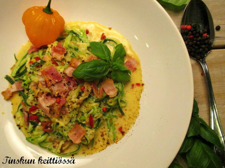 """Helppo ja nopea Chilimpi """"pasta"""" carponara. Maidoton ja vähähiilihydraattinen: Tinskun keittiössä"""