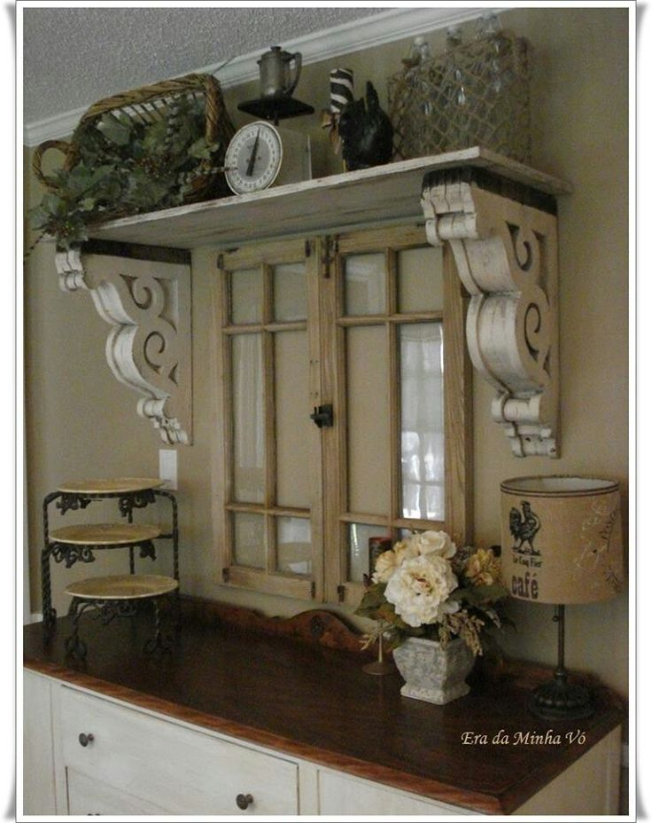The red chandelier our first house dining room wow reclaimed window corbels as shelf supports this is lovely use of architectural salvage