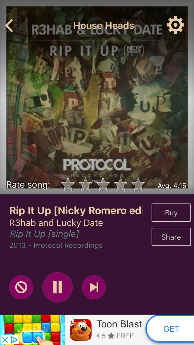 Rip It Up [Nicky Romero edit] by R3hab and Lucky Date on AccuRadio