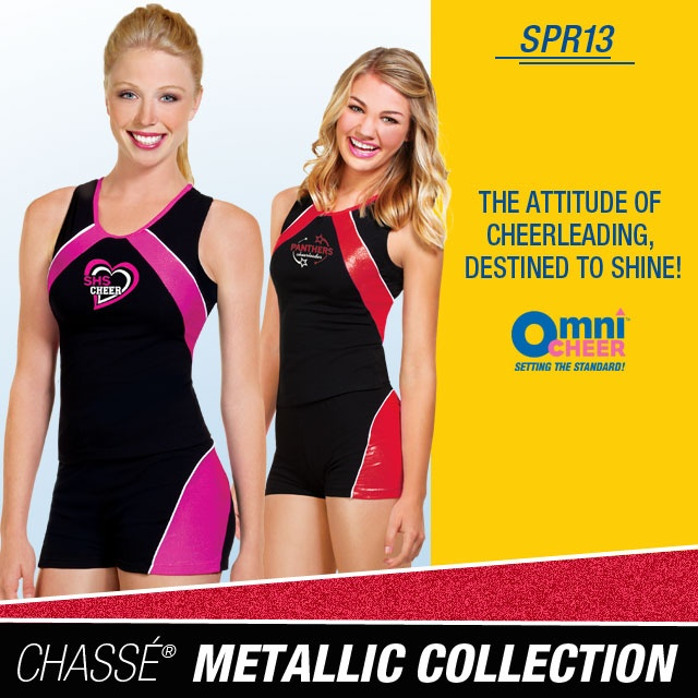 Chassé Metallic Collection - cheer practice wear at Omni Cheer