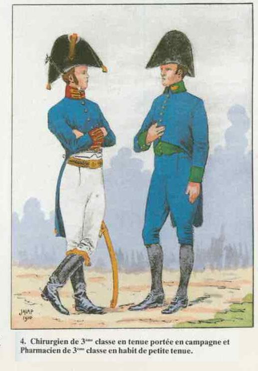 Napoleon Era Military Surgeon and Pharmacist Uniforms