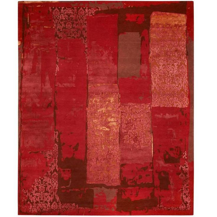 Boro 5 Red from Boro Carpet Collection by Jan Kath | From a unique collection of antique and modern central asian rugs at https://www.1stdibs.com/furniture/rugs-carpets/central-asian-rugs/