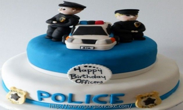 Police Birthday Cake Images