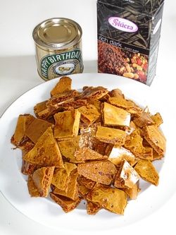 Yellowman (Crunchy Brown Sugar and Golden Syrup Toffee) recipe