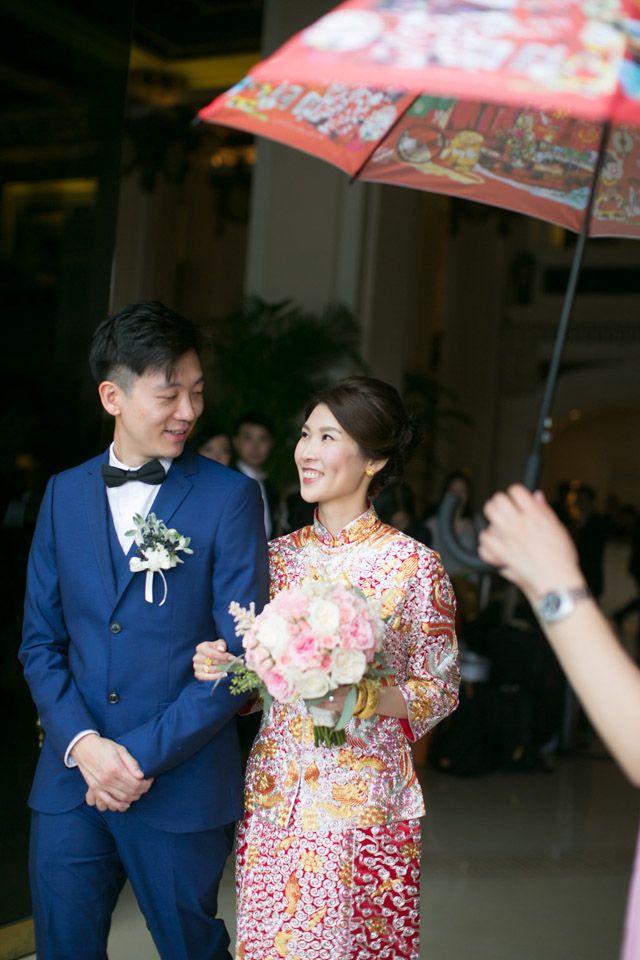 Fanciful Delight Chinese Wedding Hotel Weddingred Umbrellaumbrellas Tiffany