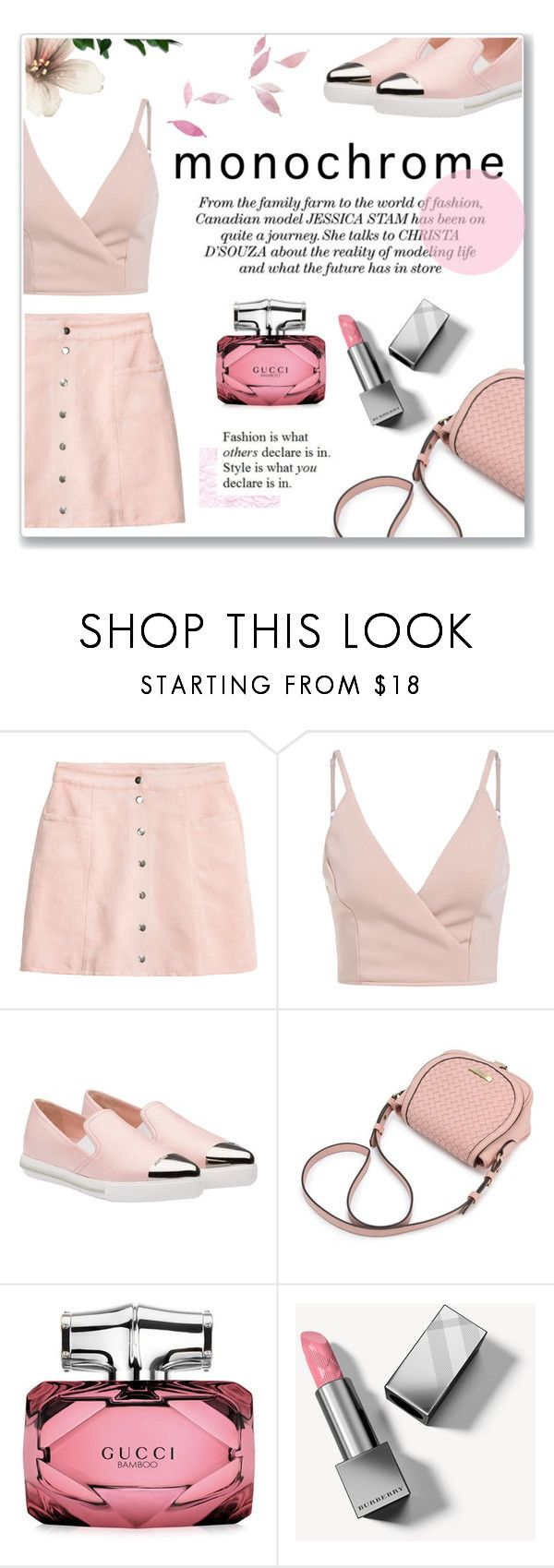 """One Color"" by achernar ❤ liked on Polyvore featuring H&M, Miu Miu, Gucci and Burberry"