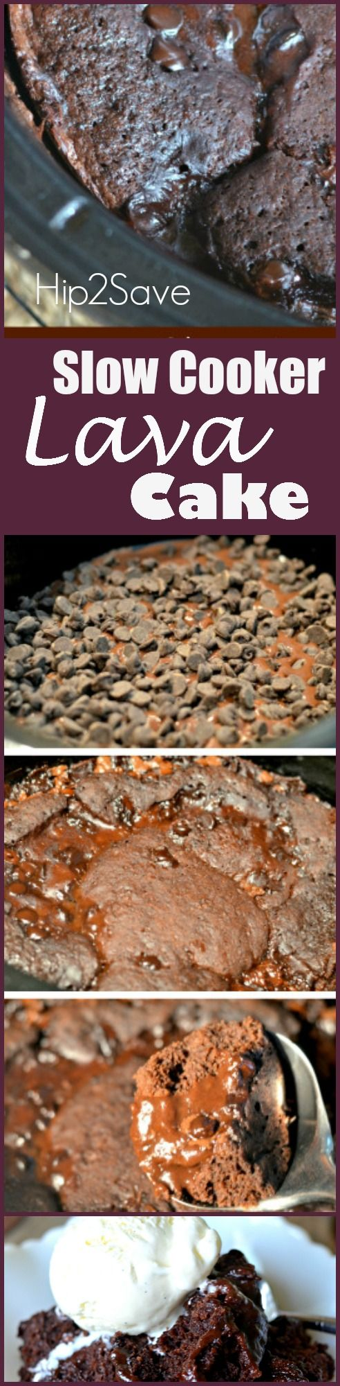 Slow cooker lava cake recipe that oozes with chocolately goodness. Once it's done, it's hot and gooey. You will receive wonderful compliments when you make this for your guests at your next party.