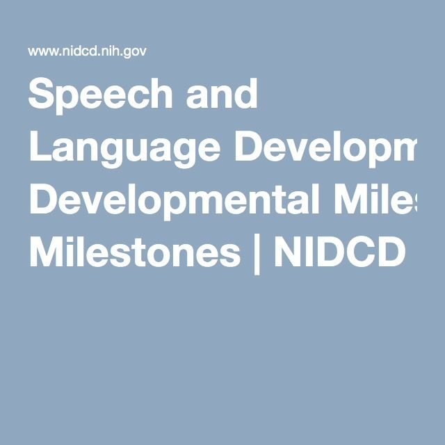 21 best assessment images on pinterest speech language therapy speech and language developmental milestones nidcd fandeluxe Image collections