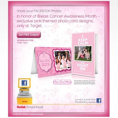 Saving 4 A Sunny Day: Kodak Kiosk BOGO Coupon To Support Breast Cancer Awareness