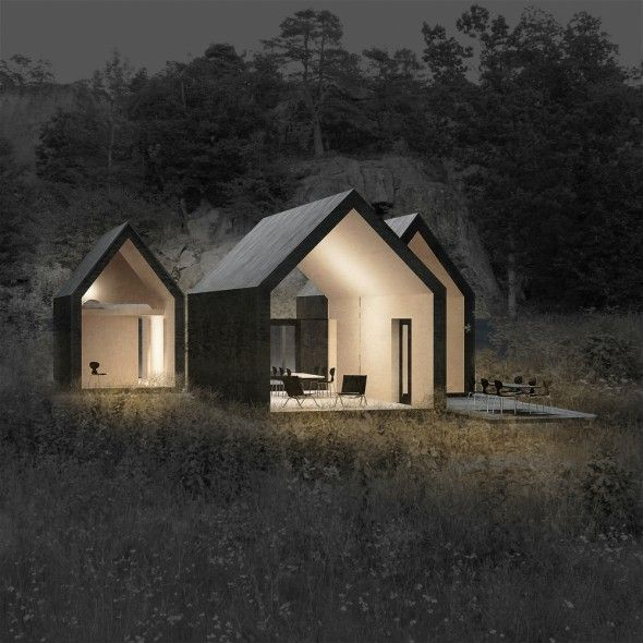 Micro Cluster Cabins / Reiulf Ramstad Architects | AA13 – blog – Inspiration – Design – Architecture – Photographie – Art