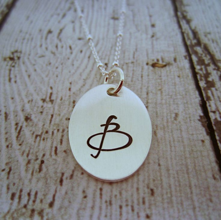 Initial Charm Necklace, Sterling Silver Initial Necklace, Initial Jewelry, Initial Pendant Necklace, Initial Necklace Silver, Letter Pendant by EllenBKeepsakes on Etsy