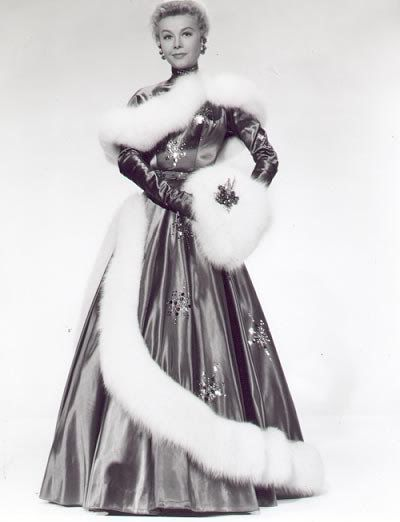 Vera-Ellen's awesome holiday gown