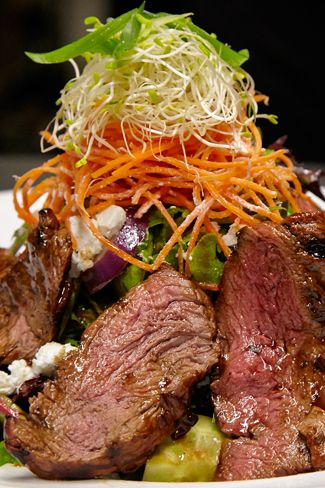 Grilled free range beef steak salad -  Hurricane's Grill Surfers Paradise Steakhouse