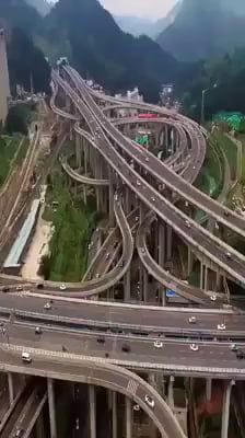 This Interchange In China Awesome Beautiful Roads Guiyang China