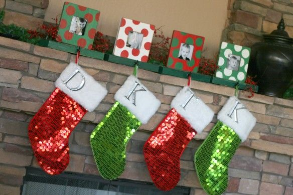 Photo Frame Stocking Holders {Christmas Ideas} | The TomKat Studio