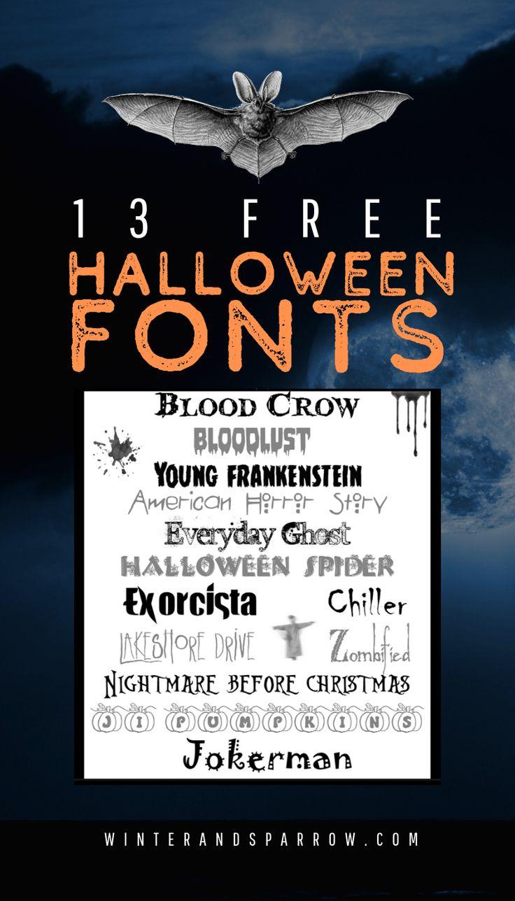 13 Free Halloween Fonts halloween Halloween fonts