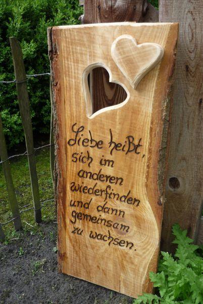 Hochzeit ♥♥Hochzeitsspruch♥♥ von Holz- Kreativ auf DaWanda.com: